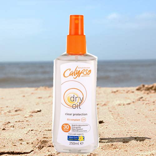 Calypso Dry Oil Spray Clear Protection SFP 30 Spray 250ml & Dry Skin