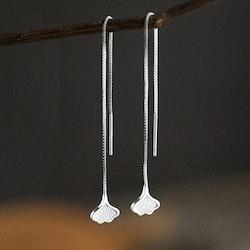 Ginkgo-blad formiga 925 Silver Örhängen