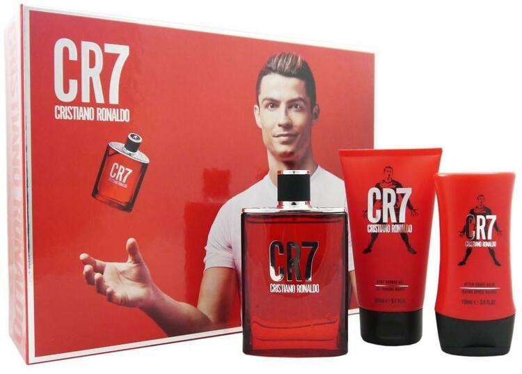 CR7 Cristiano Ronaldo Gift Set-EDT100ml+ASHbalm100ml+SG150ml