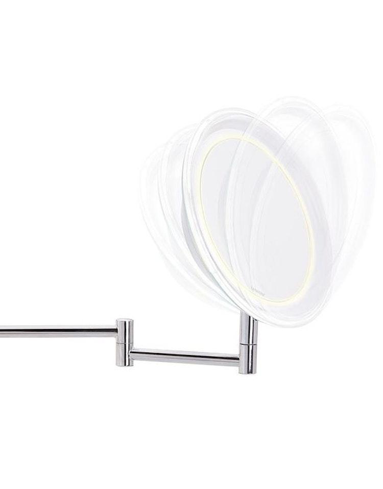 Sminkspegel med väggfäste 10 ggr förstoring & belysning Lanaform
