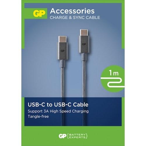GP USB-kabel CB16, USB-C till USB-C, 1 m