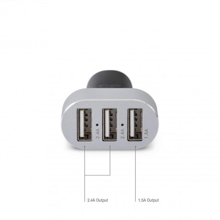GP Billaddare med 3 USB-portar CC61, USB-A x3