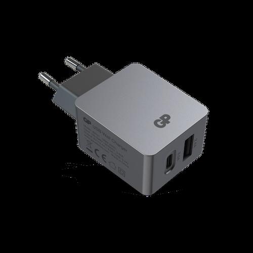 GP Väggladdare med 2 USB-portar WA51, USB-A + USB-C