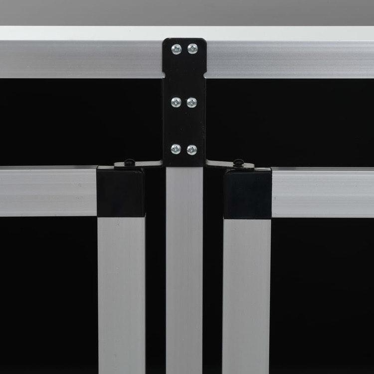 Hundbur med dubbeldörr 94x88x69 cm