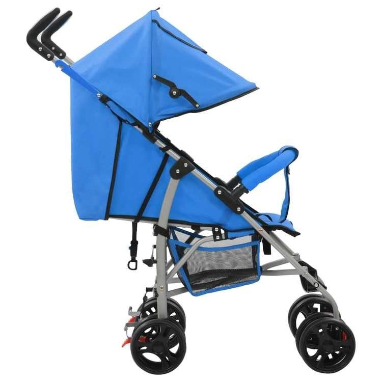 2-i-1 Barnvagn/sittvagn stål blå