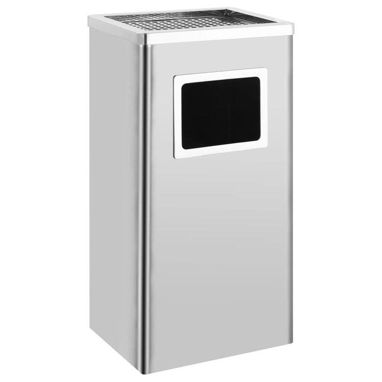 Askfat/soptunna 36 el 45 L, Silver eller Svart