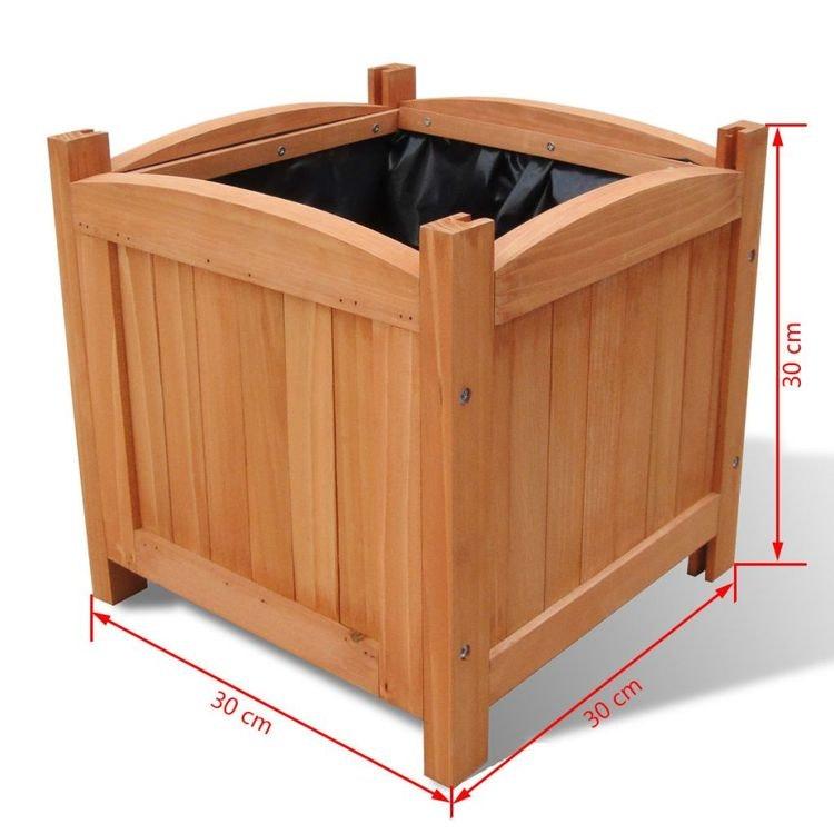 Träblomlåda 30 x 30 x 30 cm 2-pack