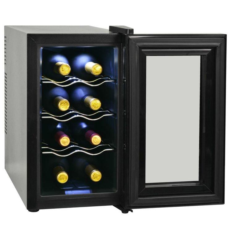 Vinkyl med LCD-display 8, 12 eller 16 flaskor. 25, 35 eller 48 L