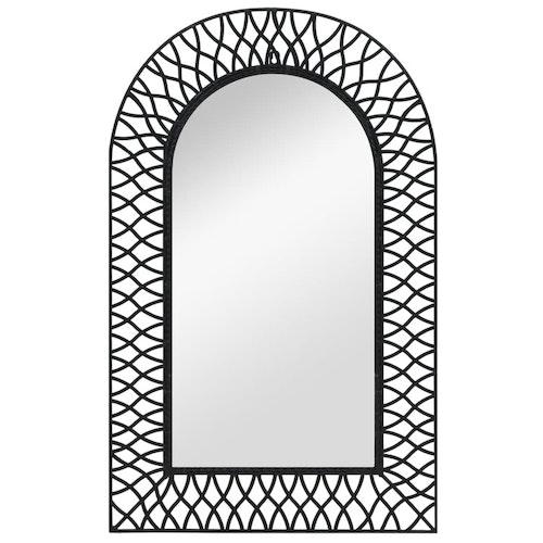 Väggspegel välvd 50x80 cm svart