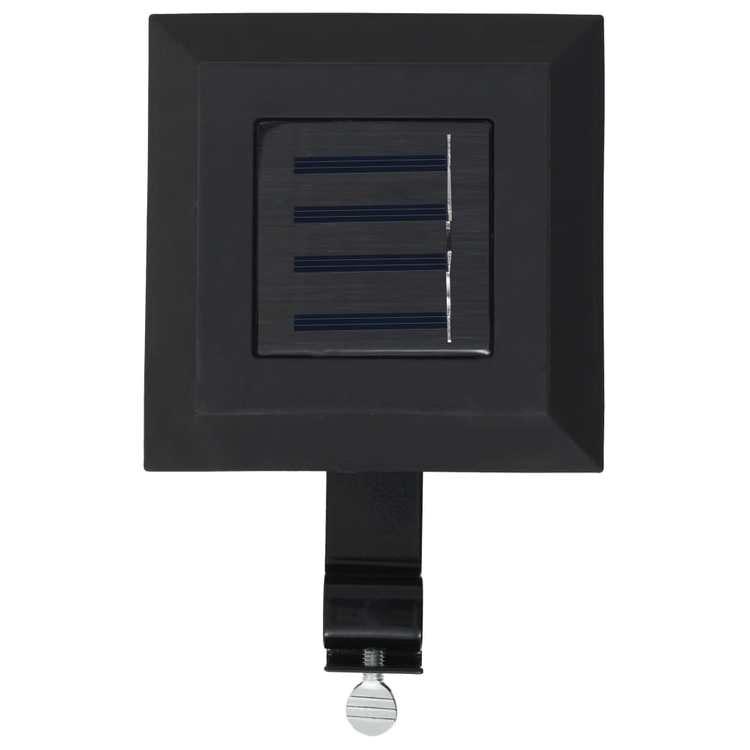 Sollampa LED set 6 st fyrkantig 12 cm svart el vit