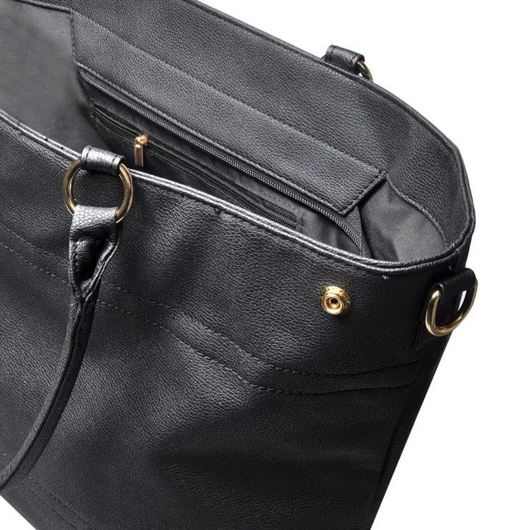 Svart Tote Väska