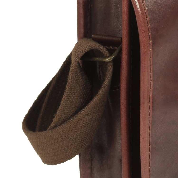 Damhandväska äkta läder brun