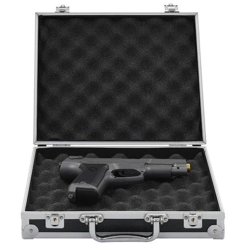 Pistolväska aluminium ABS svart eller silver