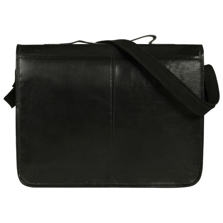 Laptopväska äkta läder svart