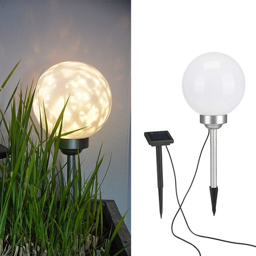 Soldriven LED roterande trädgårdsklot 20 cm