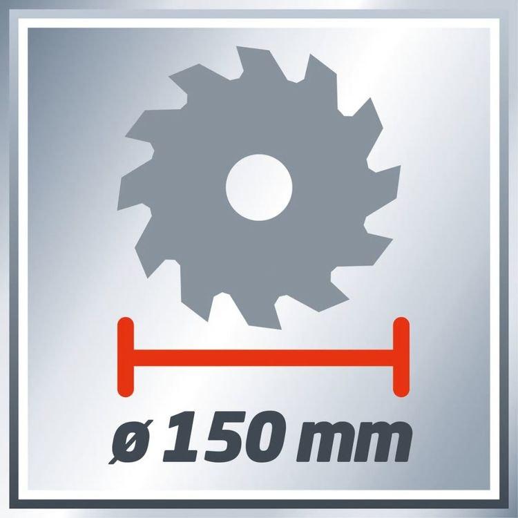 Einhell Trådlös cirkelsåg TECS 18 Lisolo Röd 150 mm