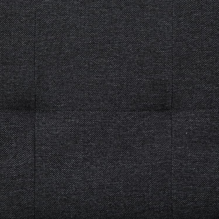 Bäddsoffa med två kuddar Mörkgrå polyester