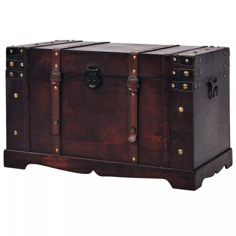 Vintagekista trä 66x38x40 cm