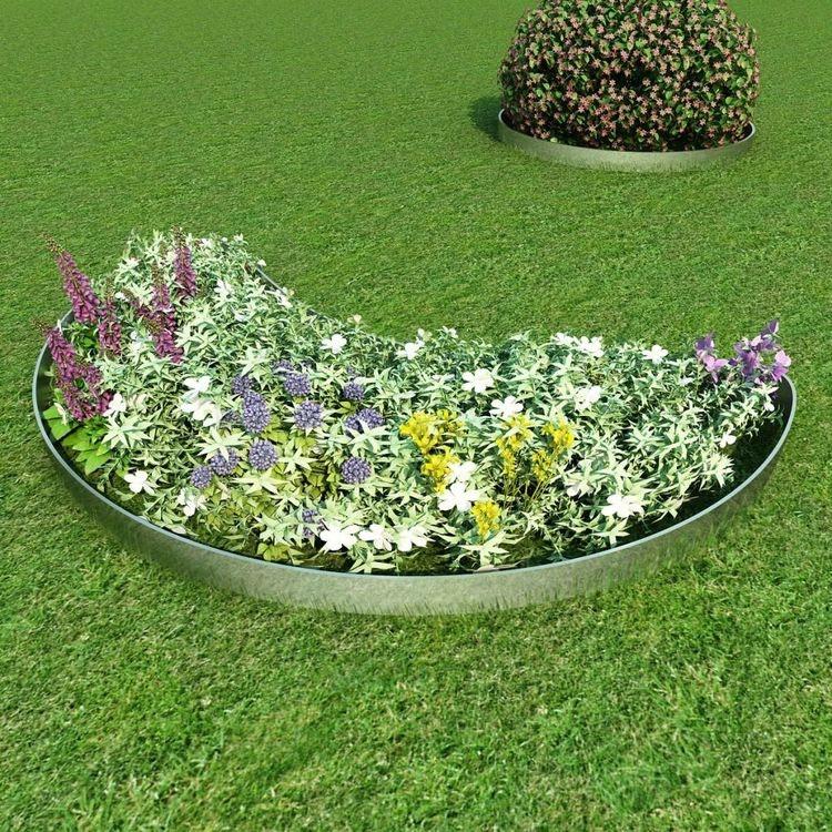 5 st Trädgårdsstaket galvaniserat stål 100 x 15 cm