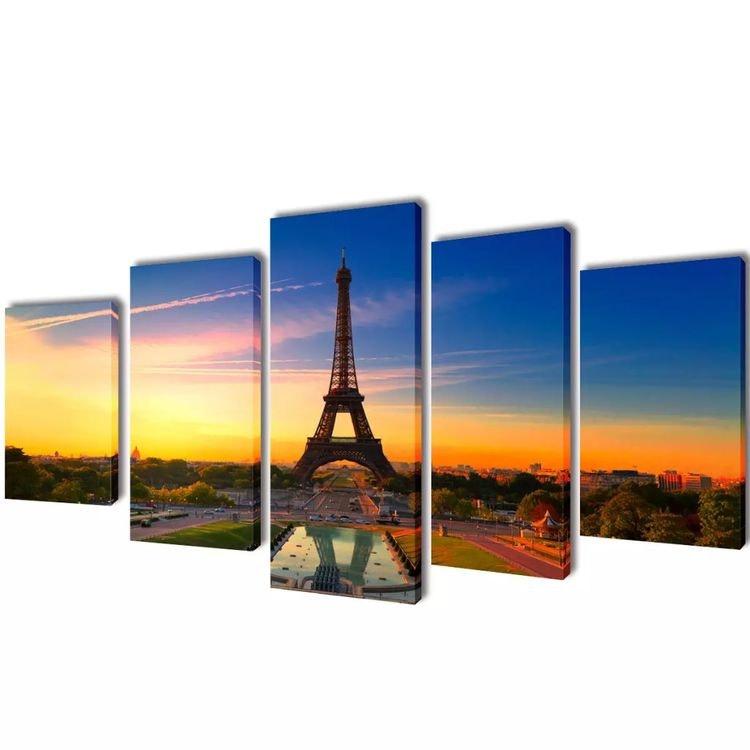 Wall Print Set Eiffeltornet 100 x 50 cm eller 200 x 100 cm