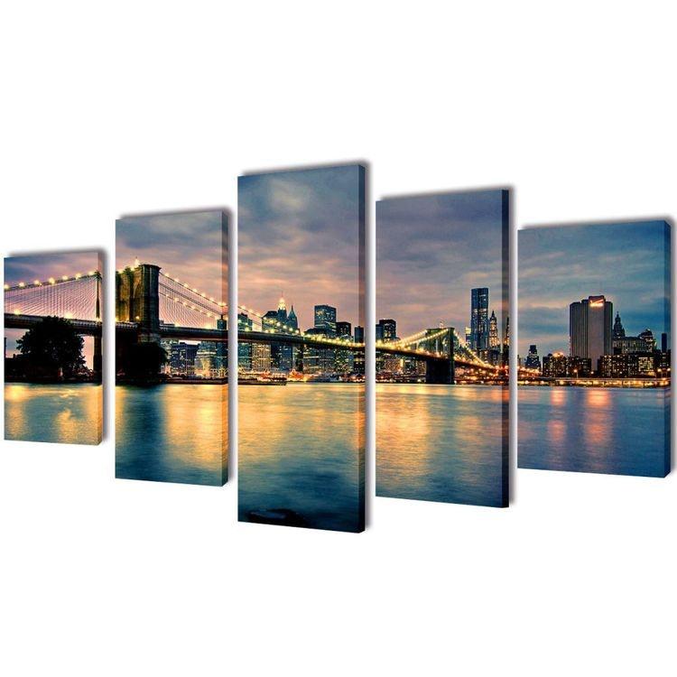 Canvastavla Brooklyn Bridge 100 x 50 cm eller 200 x 100 cm