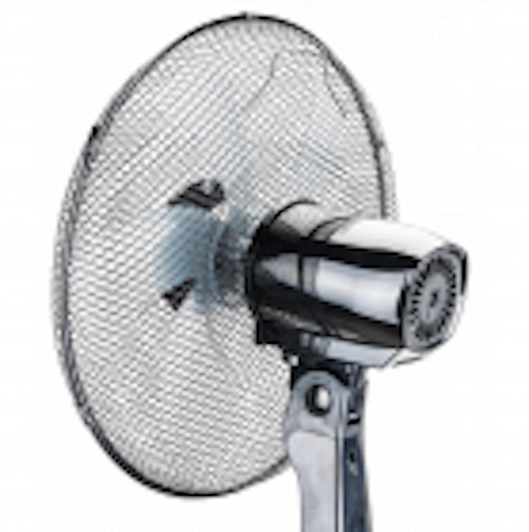 """Golvfläkt 40cm 16"""", 75W 115-135cm teleskop, fjärr, tyst och stabil, 3 hastigheter"""