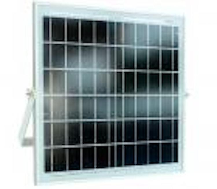 Strålkastare 216 LED 100W 6000 LM med solpanel och fjärrkontroll, IP65, slim