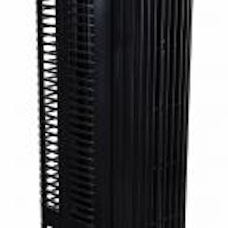 Tornfläkt, pelarfläkt 121cm, tyst exklusiv stående fläkt, golvfläkt med fjärrkontroll, 90W, svart, Powermat Black Tower