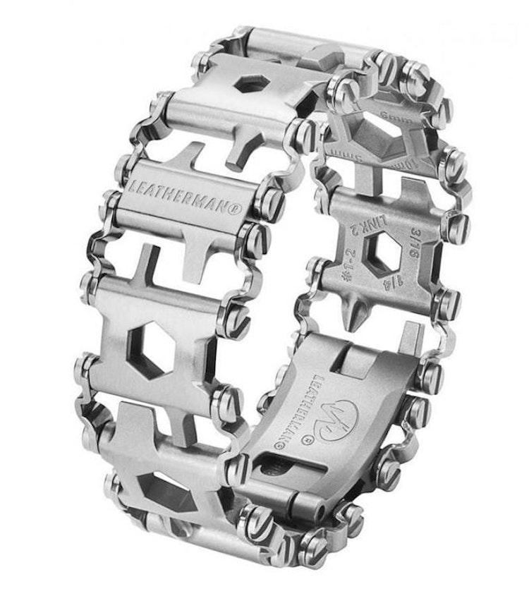 HÄFTIG! Leatherman Tread® Metric Black / Silver Multiverktyg, armband med 29 verktyg