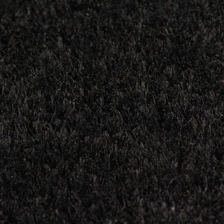 Dörrmattor 2 st kokosfiber 17 mm 50x80 cm svart eller natur