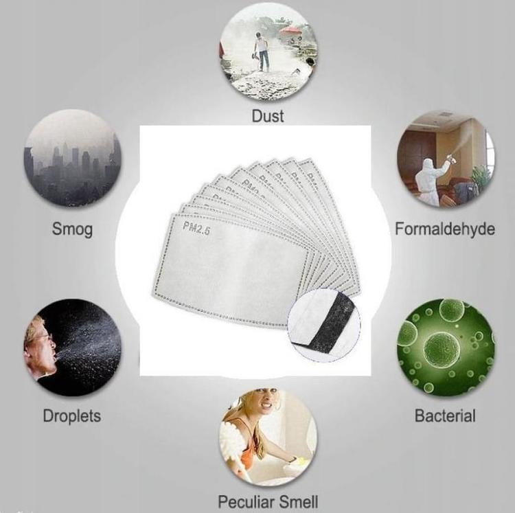 10 st Filter för andningsskydd, skyddar mot virus bakterier m.m. MP 2.5 FFP3 N99
