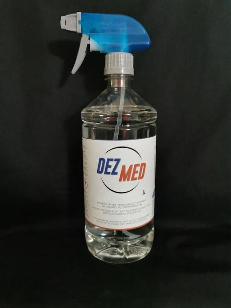Desinfektionsspray 1L 70% etanol, för professionell bruk, bakterier och virusdödande, DEZ-MED