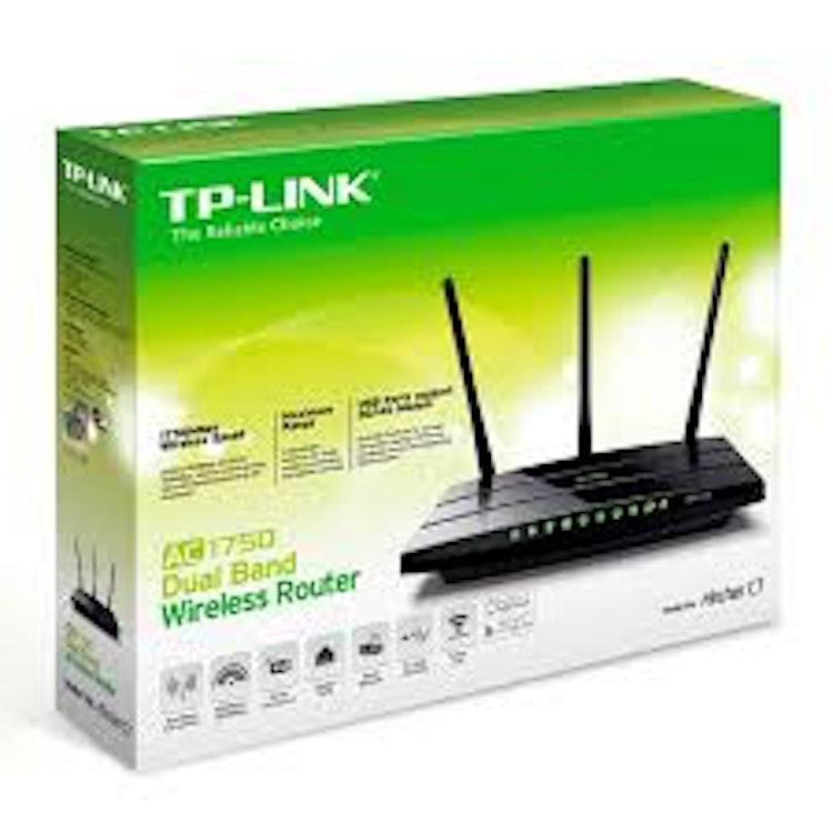 TP-LINK Archer C7 AC1750 Gigabit Router 1750Mbps (1300+450) Trådlös AC DualBand Router - OPEN SOURCE