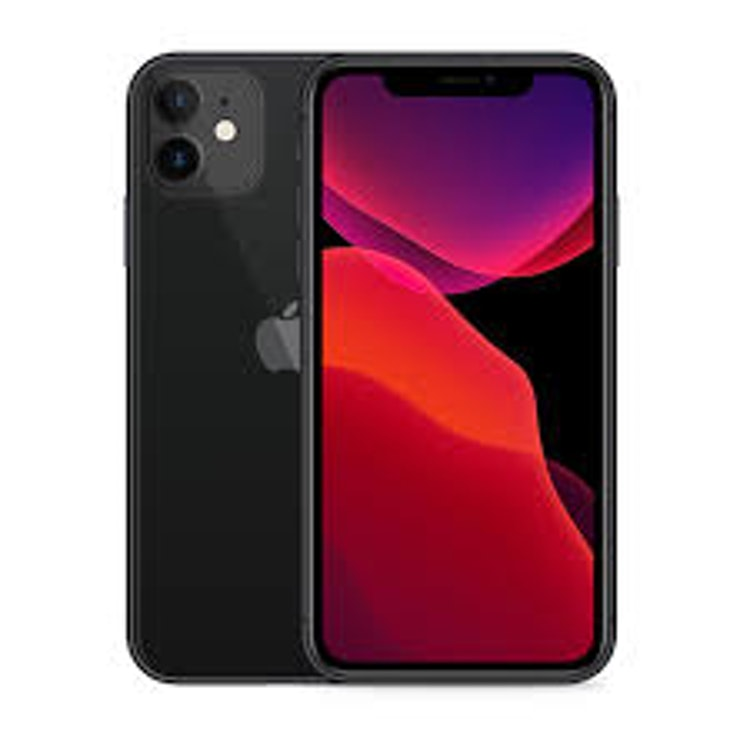 "iPhone 11 128 GB Svart SmartPhone, 6,1"" LCD-skärm, 12MP/12MP kamera, 4G"