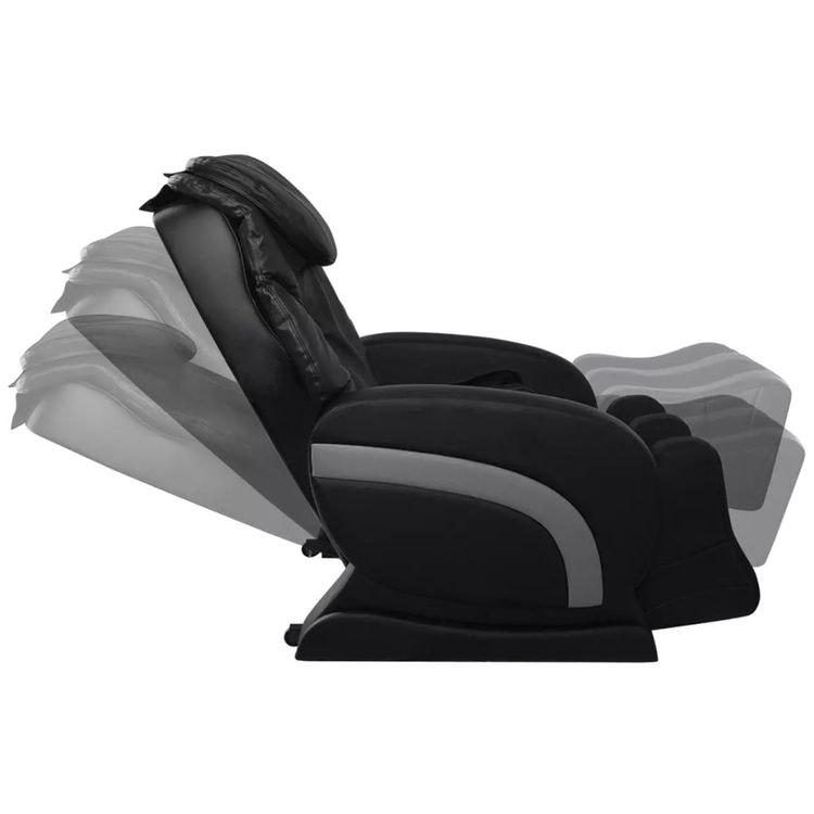 Massagefåtölj svart konstläder