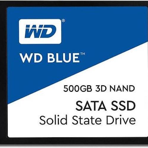 "WD Blue 3D 500GB 2.5"" SSD SATA6.0Gbps, 3D NAND, 560/530 MB/s Read/Write, 7mm"
