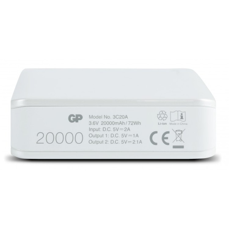 GP PowerBank Xtreme 20000 mAh, 3C20A, Vit
