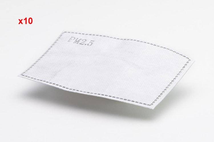 Filter för andningsskydd/mask 10st, skyddar mot virus bakterier m.m. MP 2.5 FFP2 N95