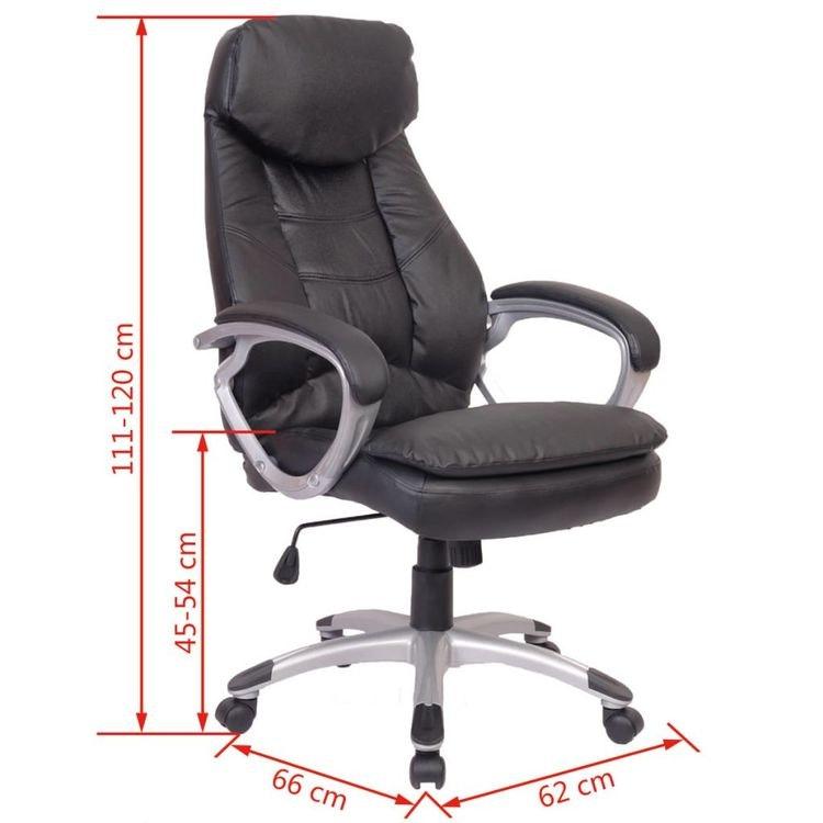 Kontorsstol av hög kvalitet i läder