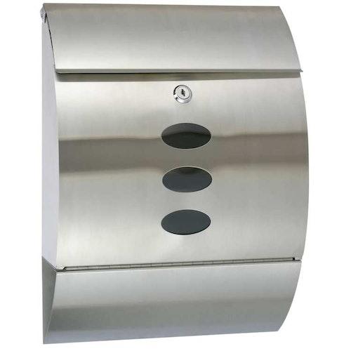 Brevlåda rostfritt stål 30x12x40 cm