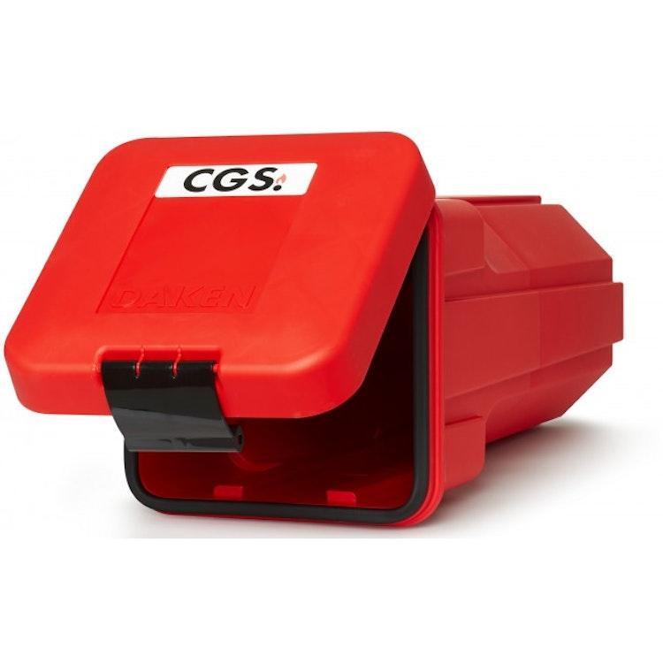 CGS toppmatat brandsläckarskåp för 6 kg släckare, röd