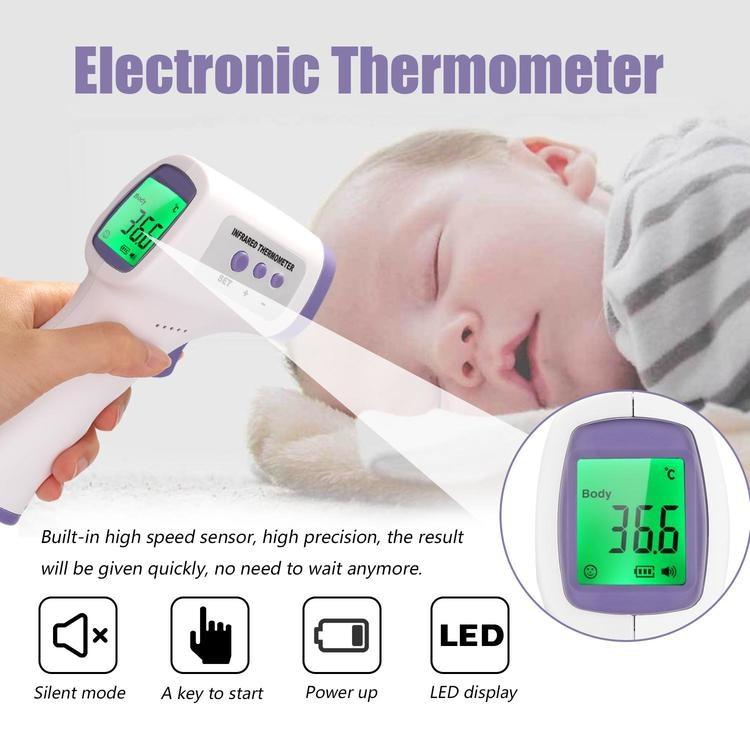 Beröringsfri, infraröd, digital termometer