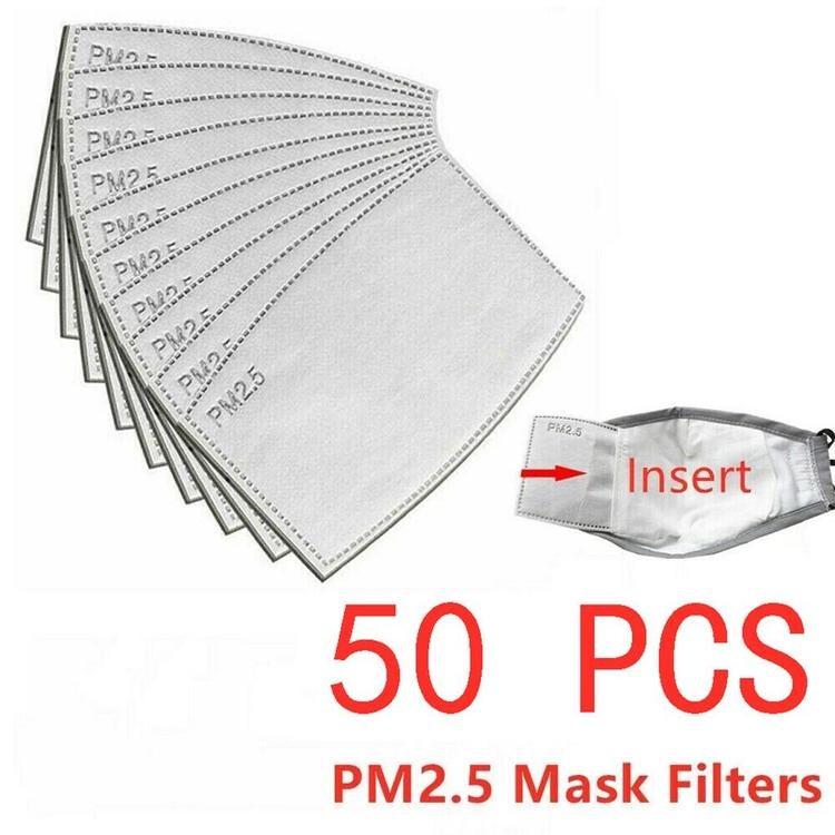 50-pack PM2.5 Filter för mask/munskydd