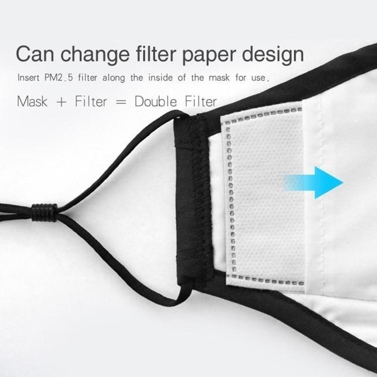 Andningsskydd med en ventil för utbytbara filter N95 N99, FFP2 FFP3 filtreringsnivå PM2.5, tvättbar andningsmask, 100% bomull, skyddar mot virus bakterier, m.m.