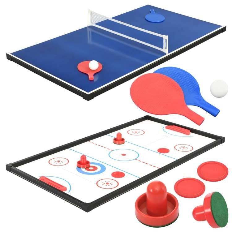 Multi-spelbord 15-i-1 121x61x82 cm lönn