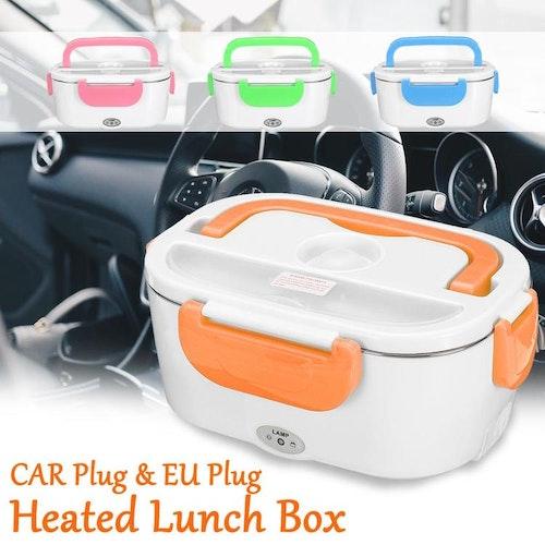 Elektrisk uppvärmd lunchbox bärbar 2 i 1, 12-24 Volt