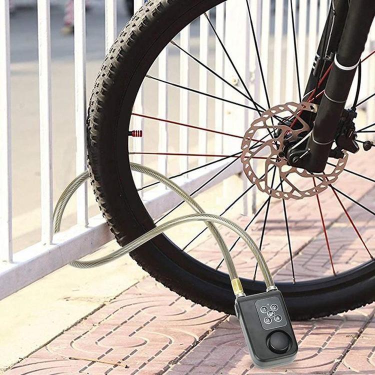 Cykellås/Larm med fjärr & kod