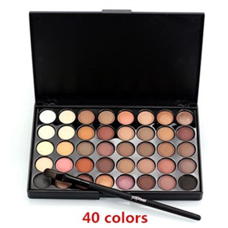 40 Color Eyeshadow Concealer Blush Eyebrow Powder