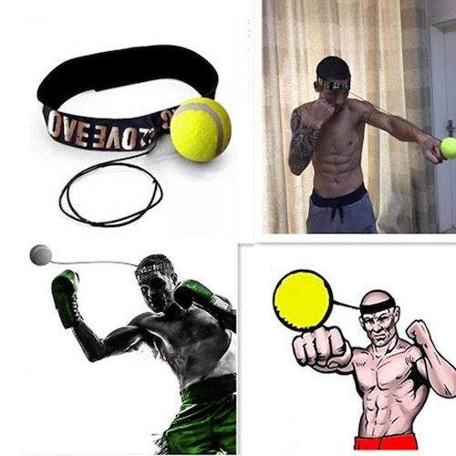 Slagboll med huvudband för reflexhastighetsträning Boxning Punch Motion Sports