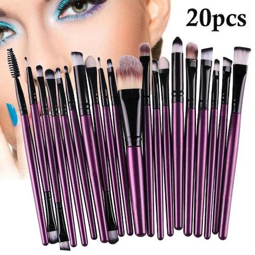 20st Makeup Brushes Kit Set Powder Foundation Eyeshadow Eyeliner Lip Brush